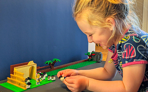 Breanne Deelstra uses Lego to tell Bible stories.